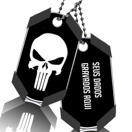 Dog Tag Justiceiro Punisher