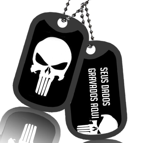 Dog Tag Justiceiro Simples